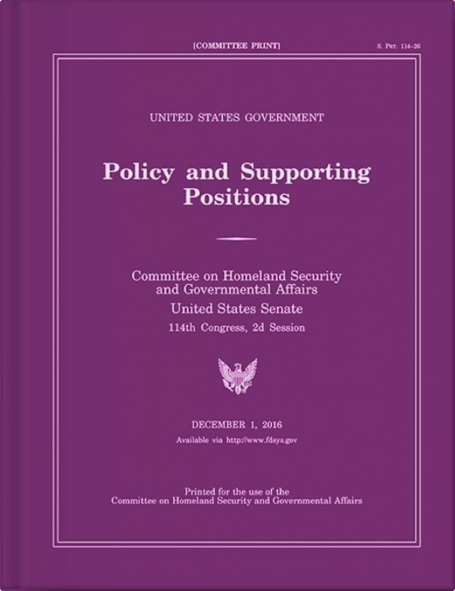 An image of the Policy and Supporting positions book