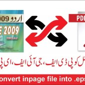 How to convert urdu inpage file into .eps  .gif  .pdf