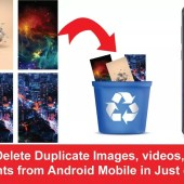 How to Delete Duplicate Images, videos, audios, documents from Android Mobile in Just one click