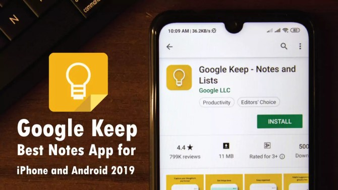 Google Keep - Best Notes app for iPhone and Android 2019