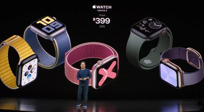 Apple Watch Series 5 now with an always-on display
