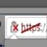 slash through https in my browser