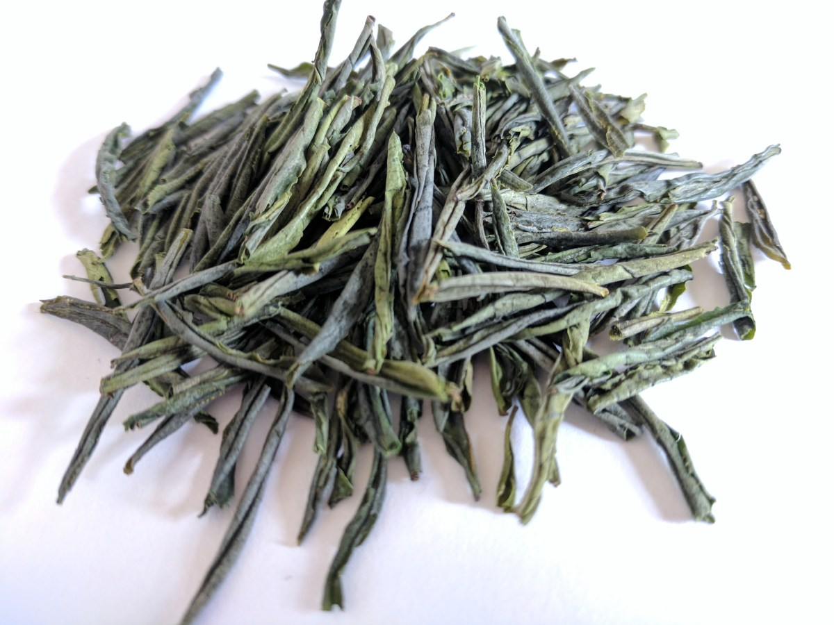 Dry leaf of Liu An Gua Pian green tea from SevenCups.com