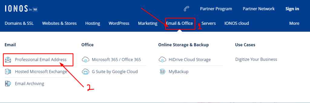 create mail 1and1 Webmail