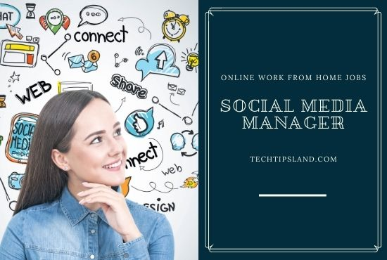 social media manager online work from home jobs