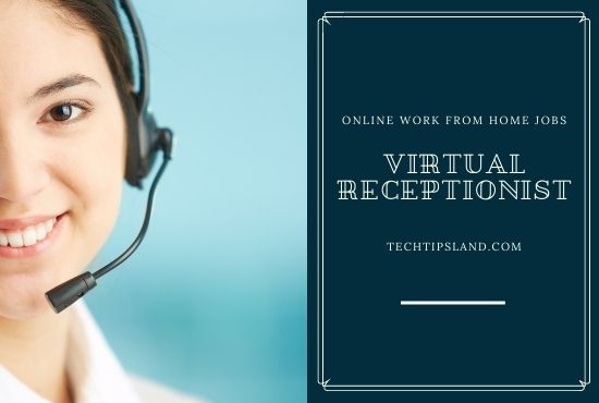 virtual receptionist online work from home jobs
