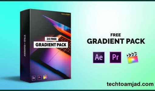gradient pack - After Effects, Premiere Pro, Final Cut Pro X, Android, iPhone