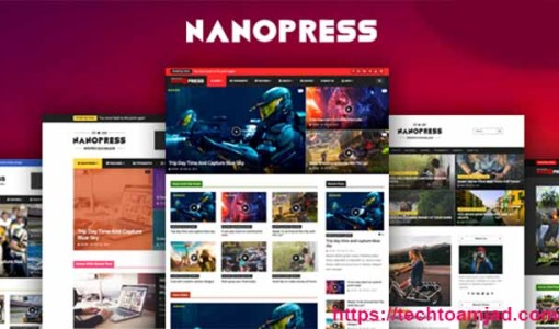 Nanopress Responsive SEO friendly premium blogger template free 2020