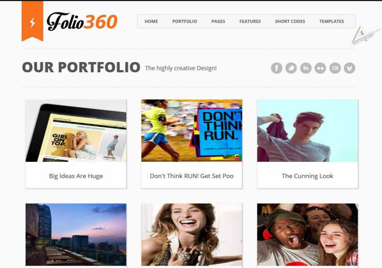 Folio360 template for blogger responsive seo friendly blogger template