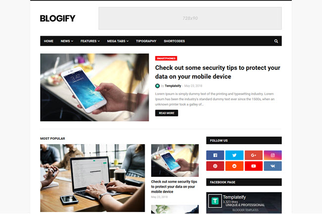 Blogify Blogger Template Free Download