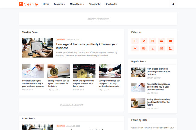 Cleanify Blogger Template Free Download