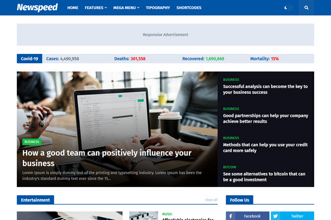 Newspeed Blogger Template Free Download
