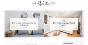 Ophelia Blogger Template Free Download