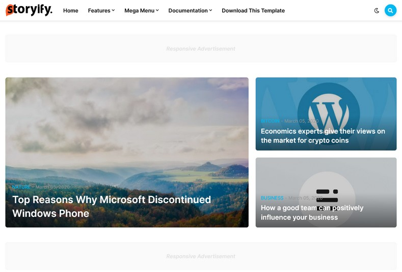 Storyify Blogger Template Free Download