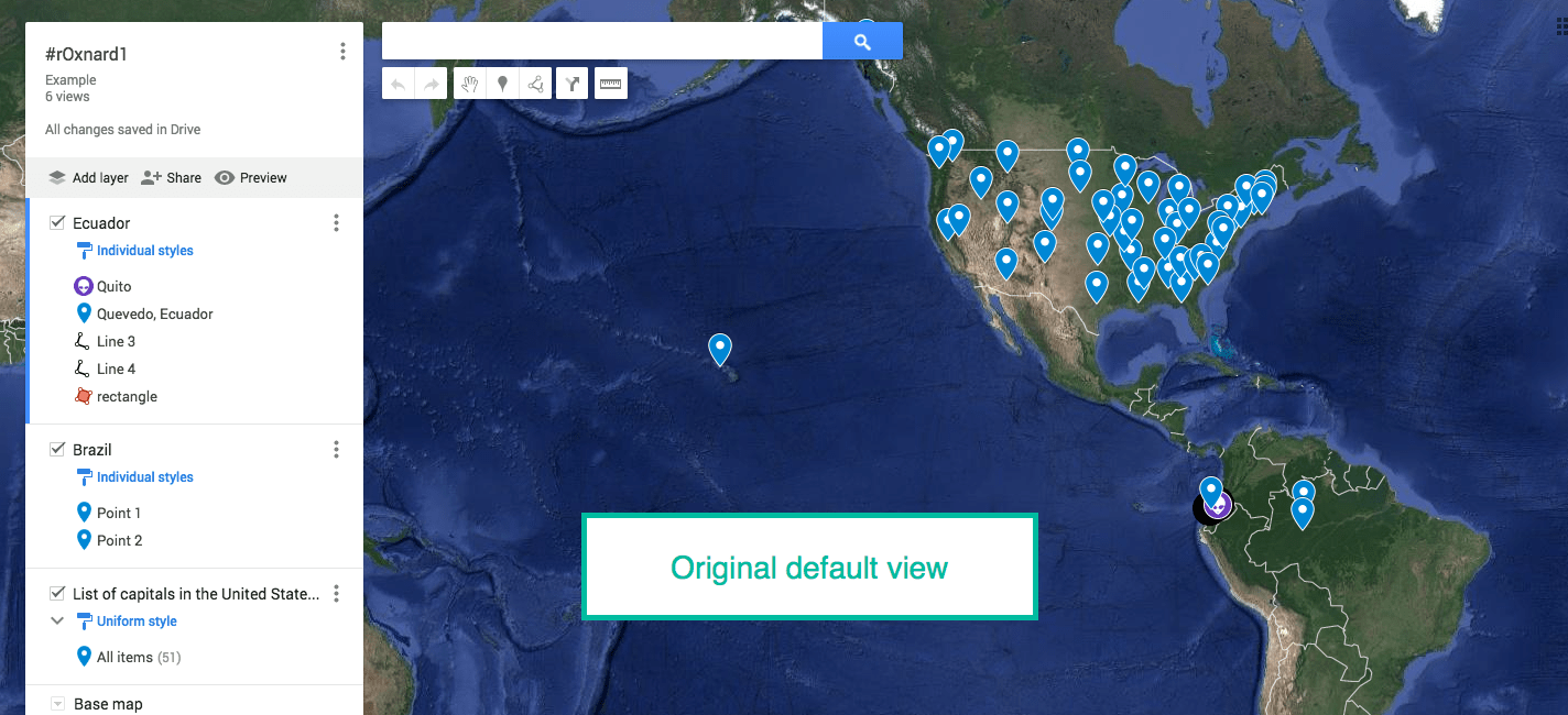 My Maps  Set Default View   Nowa Techie Before we get to HOW to change the view  set the view to how you would like  it to look when the Map is first loaded  Once the desired view is on