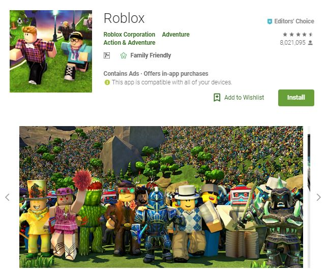 An image of a screenshot from the game Roblox, a group photo of uniquely designed in-game characters, one of the editors choice games