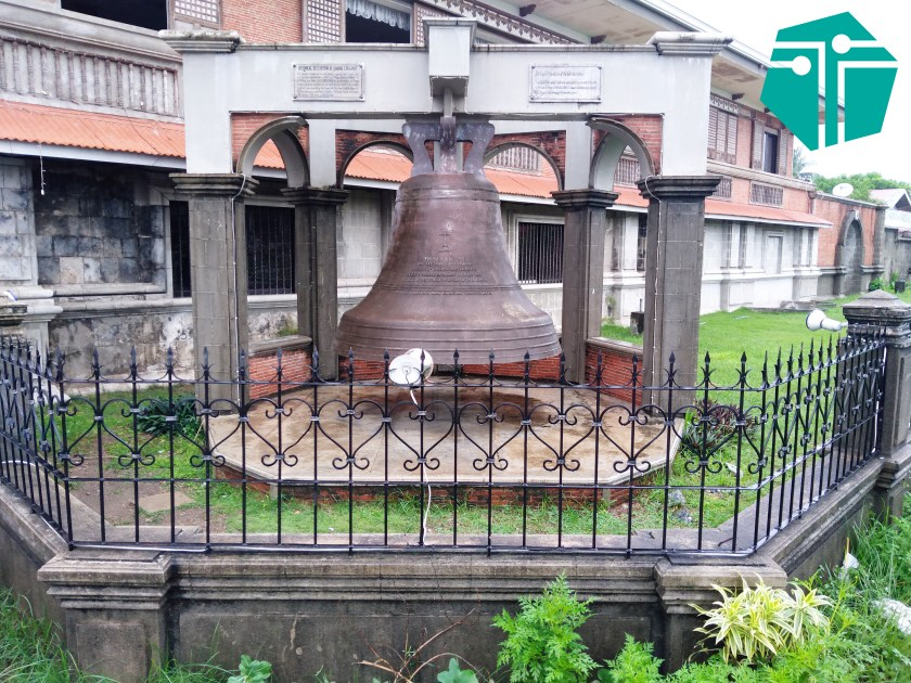 A photo of the Sta. Monica Church Bell.  This Photo was taken during our Capture Capiz and Iloilo Tour.