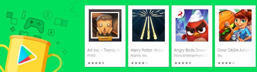 Screenshot photo of the Google Play's Best of 2019 Games