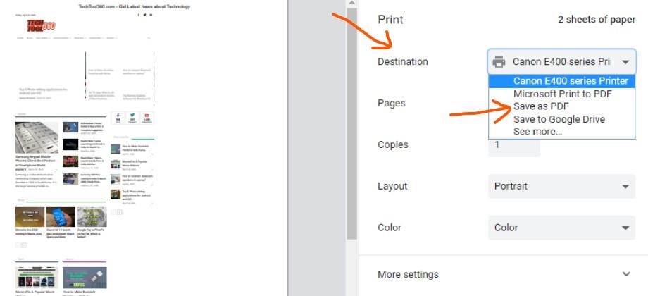 how to make pdf file using google chrome web browser techtool360.com