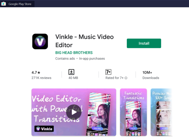 Vinkle Video Editor for PC