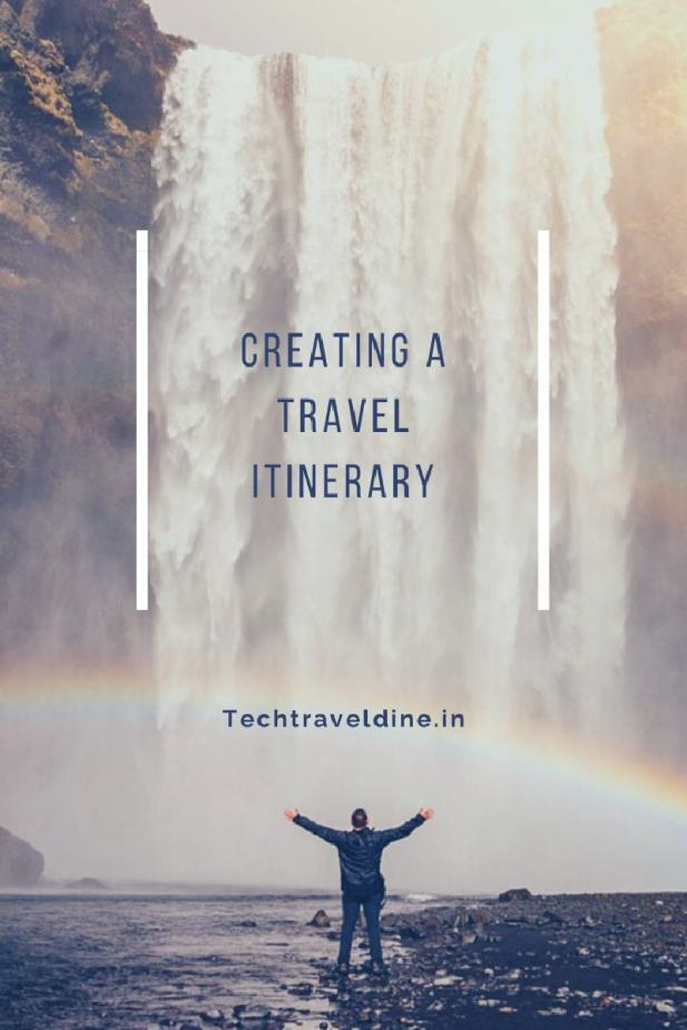 Creating a travel itinerary