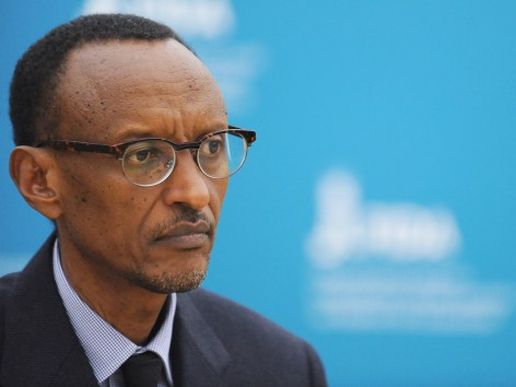 Rwanda's President Paul Kagame at the International Fund for Agricultural Development headquarters in Rome in February. (photo courtesy of Google).