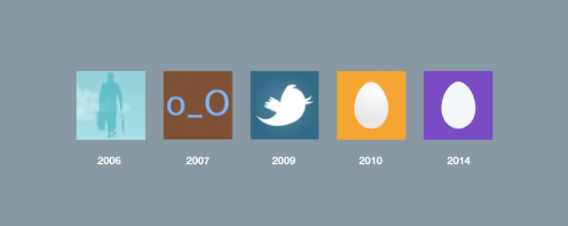Twitter default profile pics from over the years.