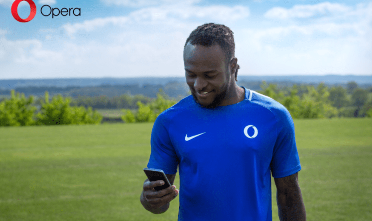 Opera Mini unveils Victor Moses as its Brand Ambassador, announces plans to invest $100 million USD in Africa