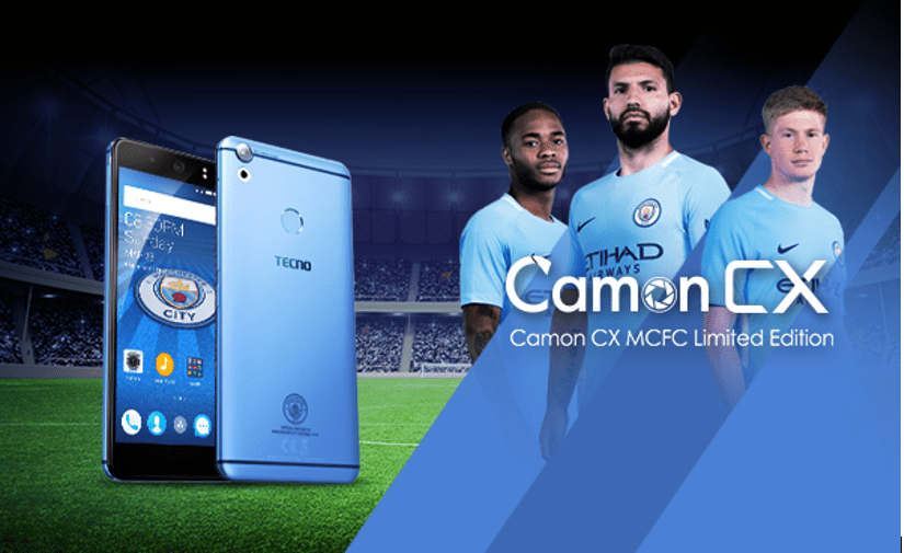 TECNO Camon CX Manchester City Limited Edition Smartphone is finally