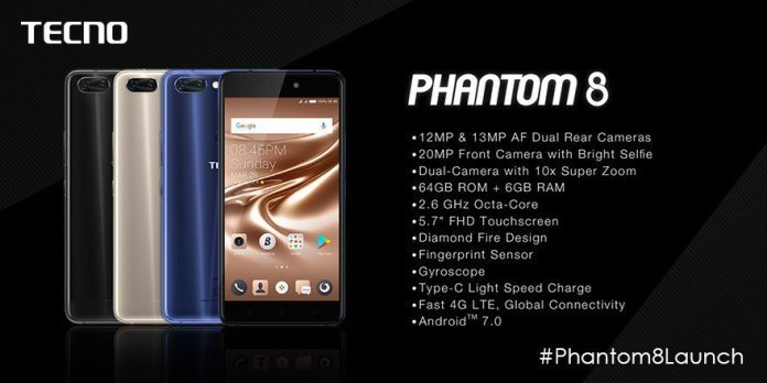 Tecno Phantom 8 Specifications and price in Kenya