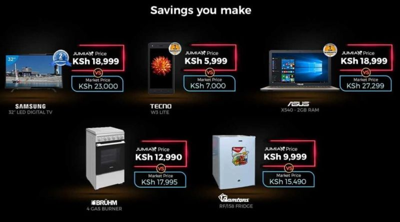 Take advantage of the 2017 Jumia Black Friday with this crazy deals.