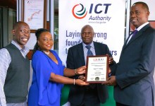Photo of ICT Authority Scoop's Gold Mark Award at the CIO 100 Awards
