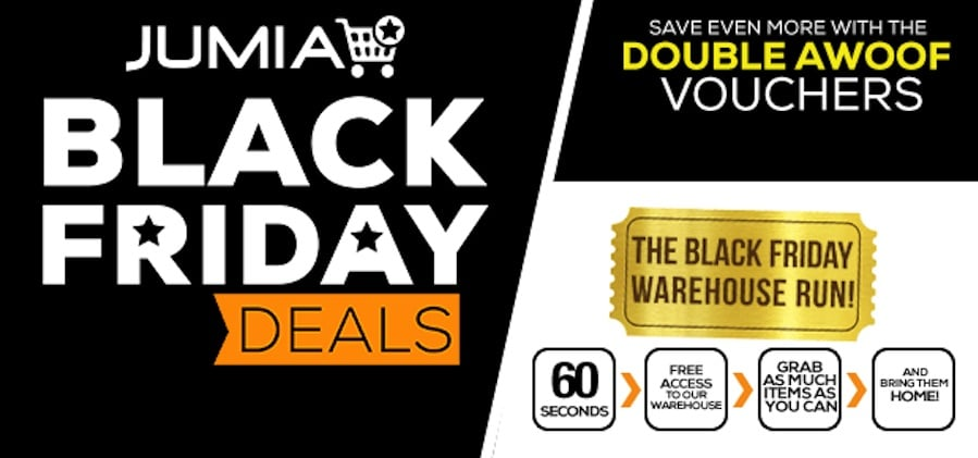 Top Opening Jumia Black Friday 2018 Flash Sales from 2nd November at 9:00AM