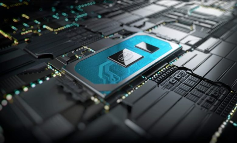 A photo shows the 10th Gen Intel Core processor on a motherboard