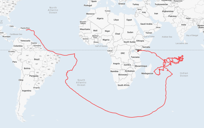 First Loon balloon travel path