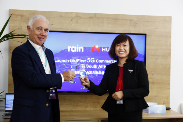 Rain CEO, Willem Roos and Shi Jilin, President of Huawei Cloud Core Network Product Line