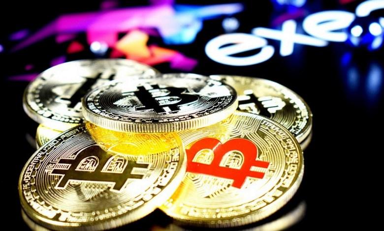 Stack of representational bitcoins