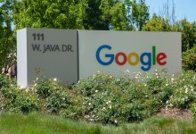 Google in Sunnyvale, CA, at West Java Drive.