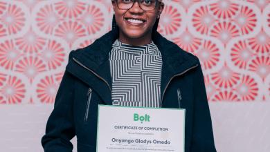 Omedo Gladys, Graduate, Bolt Drive4WITech initiative