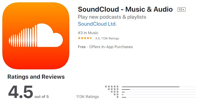 SoundCloud Music app for iphone