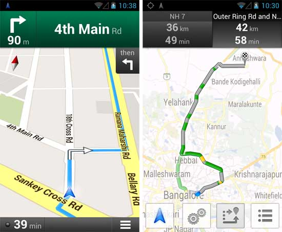 Google navigation and live traffic data now available in india google navigation and live traffic sciox Image collections