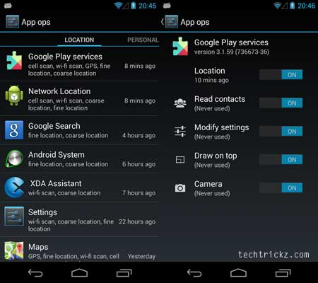 Get Permission Manager Or App Ops Feature On Android 4 4 - Techtrickz