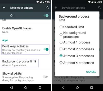 Limit Battery Drain On Lollipop By Limiting Background Processes Killing Apps Activities Techtrickz