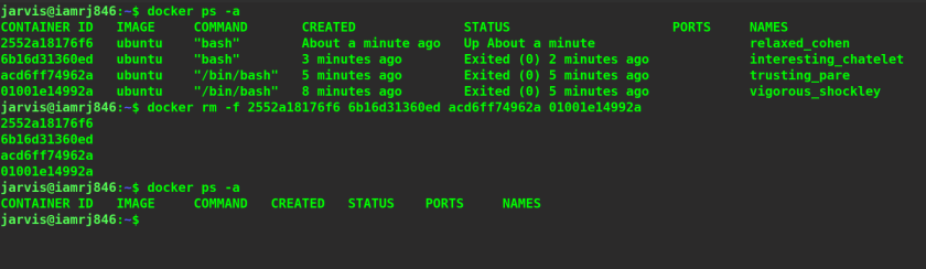 Docker rm Command