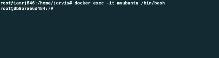 Docker exec it bash