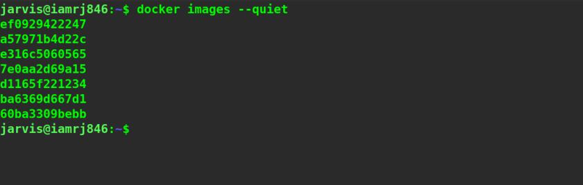 Listing image IDs