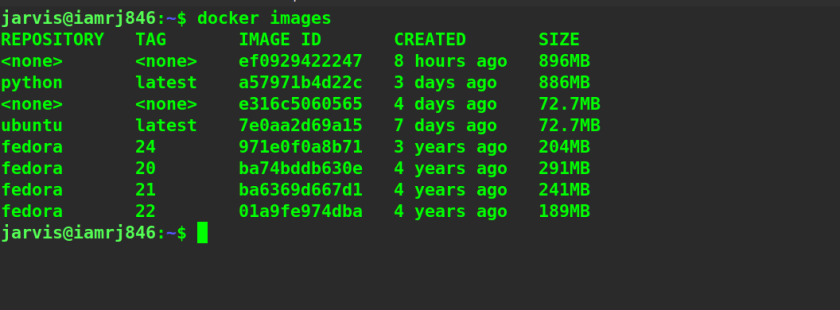 Docker Image List