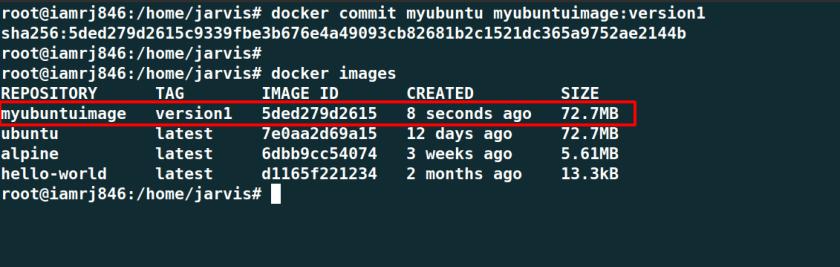 Docker Commit Command