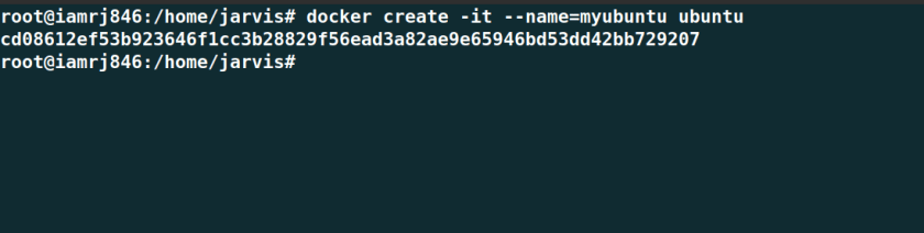 Create Docker Container from an Image