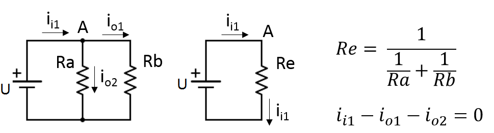 Application of KCL to a resistive circuit.
